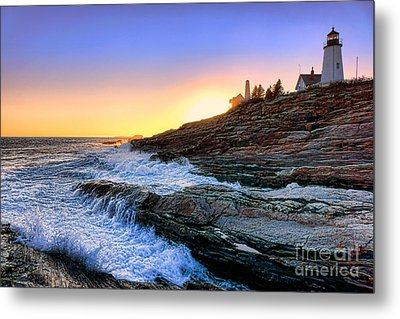 Pemaquid Point Sunset Metal Print by Olivier Le Queinec