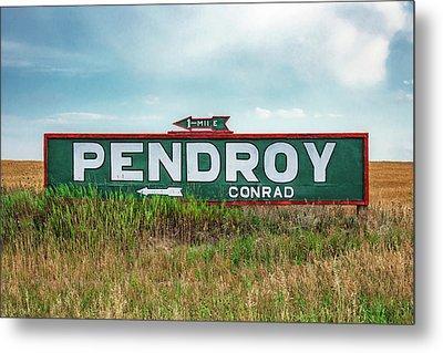 Pendroy Sign Metal Print