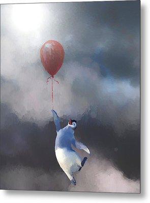 Penguin Escape Metal Print