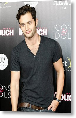 Penn Badgley At Arrivals For In Touch Metal Print by Everett
