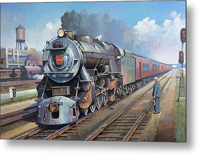 Metal Print featuring the painting Penn Central Pacific. by Mike Jeffries