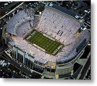 Penn State Aerial View Of Beaver Stadium Metal Print by Steve Manuel