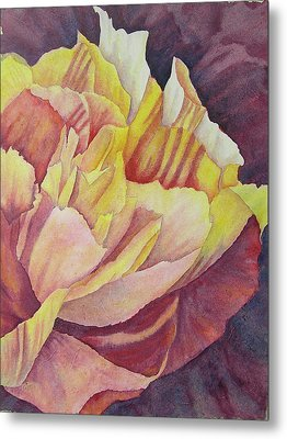 Metal Print featuring the painting Peony Pattern by Carolyn Rosenberger