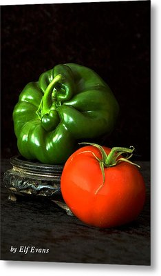 Pepper And Tomato Metal Print