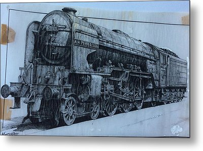 Metal Print featuring the mixed media Peppercorn A2 Pacific by Mike Jeffries