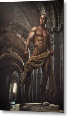 Perfect Male Statue Metal Print