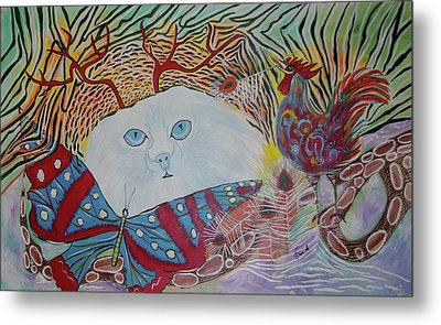 Persian Cat Metal Print by Sima Amid Wewetzer