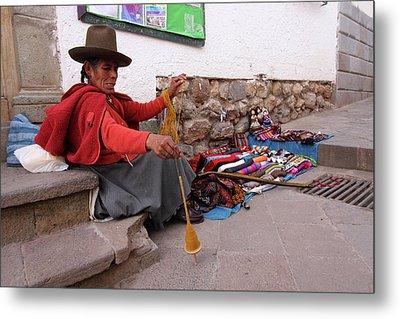 Peruvian Weaver Metal Print by Aidan Moran