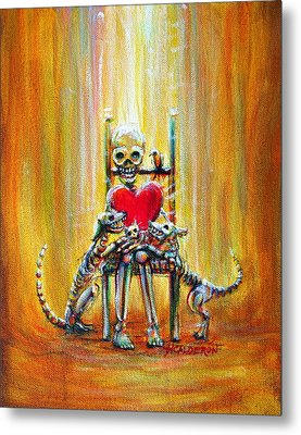 Metal Print featuring the painting Pet Love by Heather Calderon