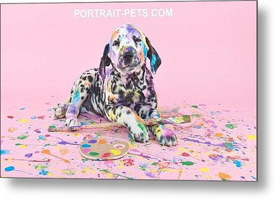 Pet Portraits With A Touch Of Humour Metal Print by Pet Portrait