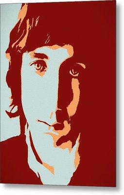 Pete Townshend Pop Art Metal Print