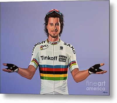 Peter Sagan Painting Metal Print by Paul Meijering