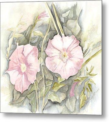 Petunias Metal Print by Jackie Mueller-Jones