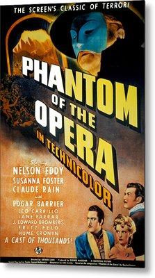 Phantom Of The Opera, Claude Rains Metal Print