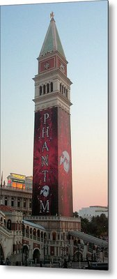Phantom Tower With Clear Sky Metal Print by Alan Espasandin