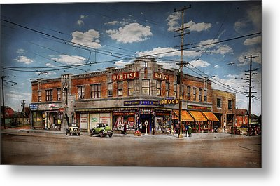 Metal Print featuring the photograph Pharmacy - The Corner Drugstore 1910 by Mike Savad