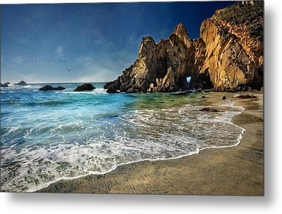 Pheiffer Beach #9- Big Sur California Metal Print by Jennifer Rondinelli Reilly - Fine Art Photography