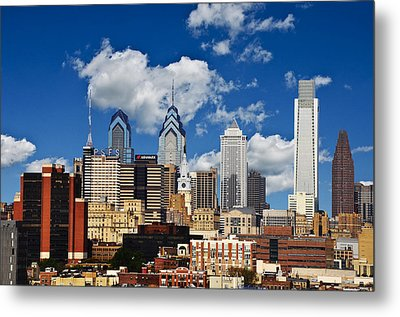 Philadelphia Blue Skies Metal Print by Bill Cannon