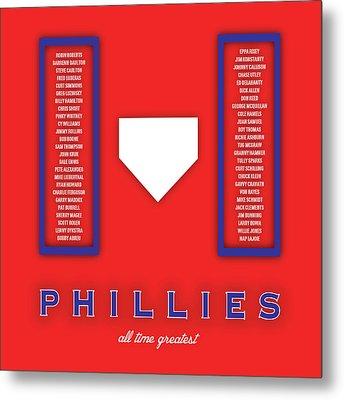 Philadelphia Phillies Art - Mlb Baseball Wall Print Metal Print