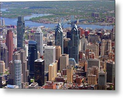 Philadelphia Skyscrapers Metal Print by Duncan Pearson