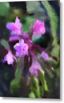 Philippine Orchid Abstact Metal Print by Kerri Ligatich