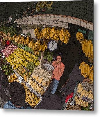 Philippines 3575 Saging Sales Lady Metal Print by Rolf Bertram