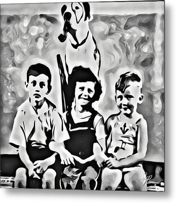 Philly Kids With Petey The Dog Metal Print