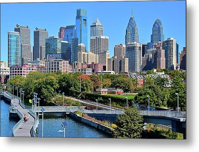 Philly With Walking Trail Metal Print