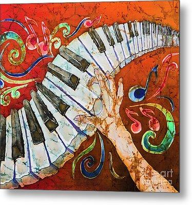 Piano Crazy Fingers - Special 3  Metal Print by Sue Duda