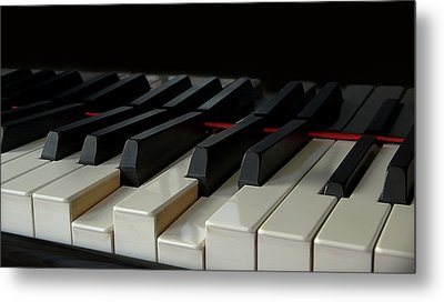 Piano Keyboard Metal Print by Martin Zalba is a photographer looking for a personal look,