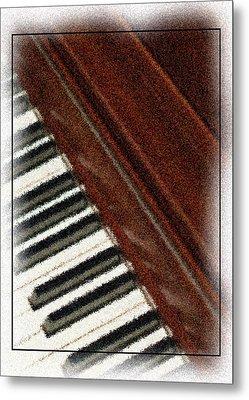 Piano Keys Metal Print by Carolyn Marshall