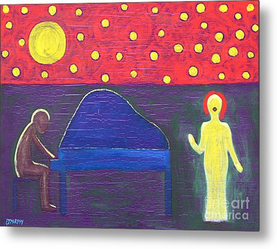 Piano Player And Singer Metal Print by Patrick J Murphy