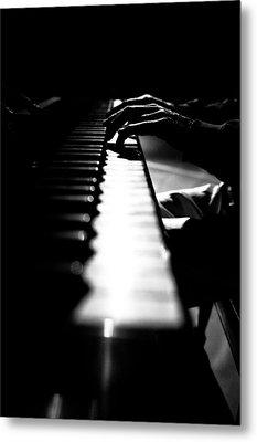 Piano Player Metal Print by Scott Sawyer