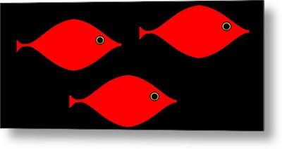 Metal Print featuring the digital art Picasso's Fish by Cletis Stump