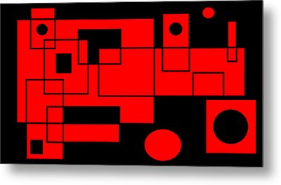 Metal Print featuring the digital art Picasso's Train by Cletis Stump