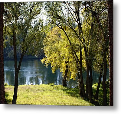 Metal Print featuring the photograph Picnic Spot On Spokane River by Ben Upham III