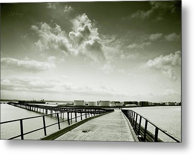 Pier-shaped Metal Print
