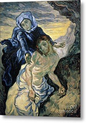 Pieta Metal Print by Vincent van Gogh