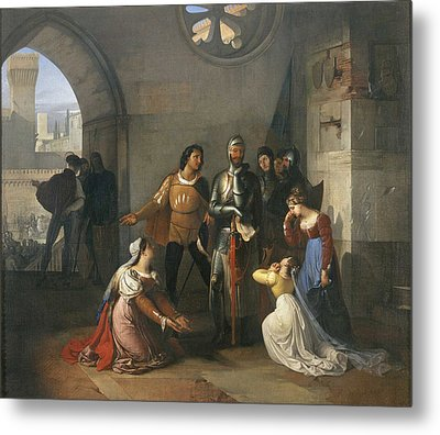 Pietro Rossi As A Prisoner Of The Scaligers Metal Print by Francesco Hayez