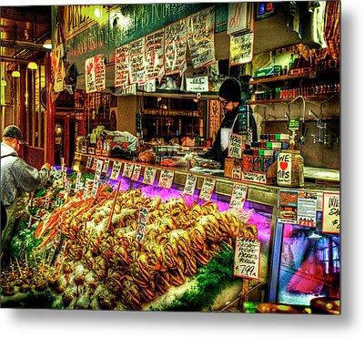 Pike Market Fresh Fish Metal Print by Greg Sigrist