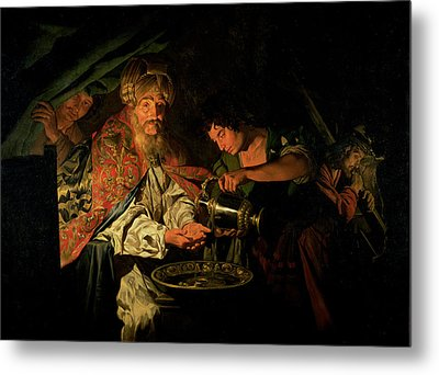 Pilate Washing His Hands Metal Print by Stomer Matthias