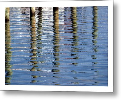 Metal Print featuring the photograph Pilings Beaufort Nc by Phil Mancuso