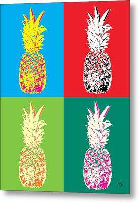 Pineapple 33 Metal Print