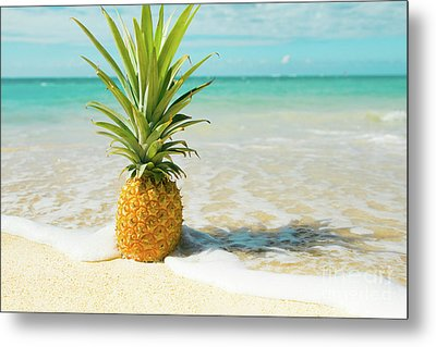 Metal Print featuring the photograph Pineapple Beach by Sharon Mau