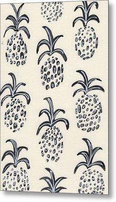 Pineapple Print Metal Print by Anne Seay