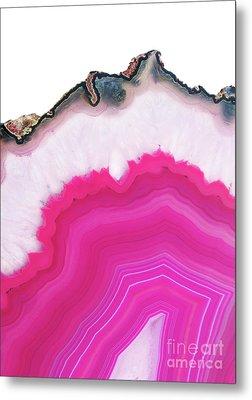 Pink Agate Metal Print