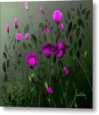 Pink And Wild Metal Print by Sena Wilson