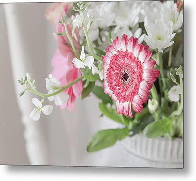 Metal Print featuring the photograph Pink Blooms Love by Kim Hojnacki