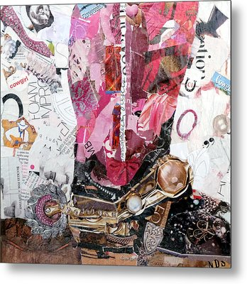 Pink Boot 2 Metal Print by Suzy Pal Powell