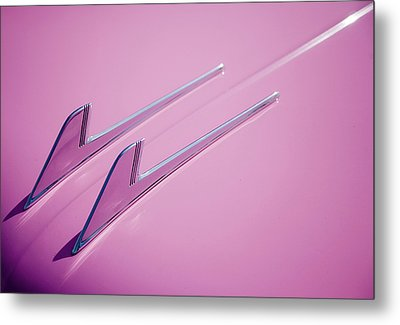 Metal Print featuring the photograph Pink Cadillac by Stefan Nielsen